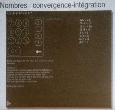Nombres : comvergence-intégration - Le test de la calculette sous EPoC
